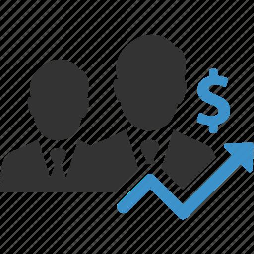 business, businessmen, earnings, finance, increase, money, profit icon