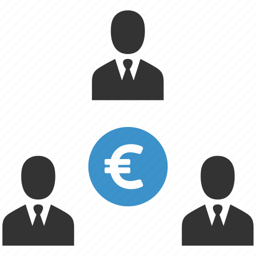 businessmen, euro, finance, income, money, people, profit icon