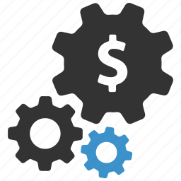 business, cogs, euro, finance, gears, payment, settings icon