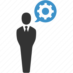business, cog, gear, management, manager, support, user icon