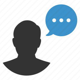 account, chat, communication, man, talk, talking, user icon