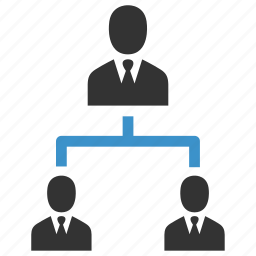business, hierarchy, management, organization, people, structure, users icon