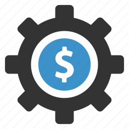 dollar, eranings, finance, gear, money, payment options, settings icon