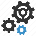 cogs, configuration, gears, management, options, settings, support icon