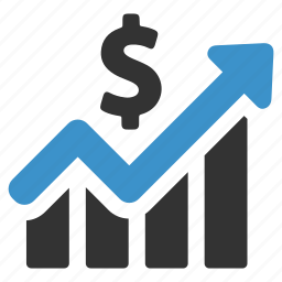 earnings, finance, graph, growth, income, increase, money icon
