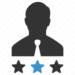 badges, business, man, rating, stars, user, votes icon