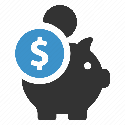 bank, dollar, finance, guardar, money, piggy, save, savings icon