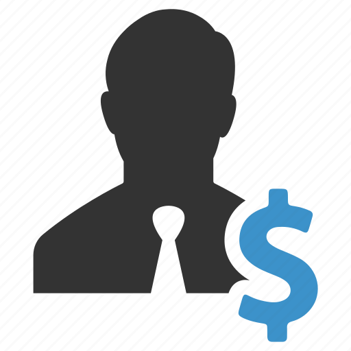 dollar, earnings, finance, income, money, person, salesman icon