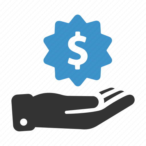 earnings, finance, funding, hand, investment, money, price icon
