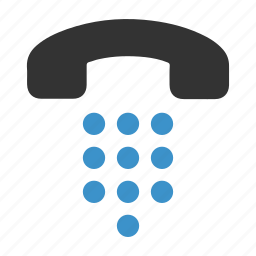 call, chat, dial, down, phone, talk, telephone icon