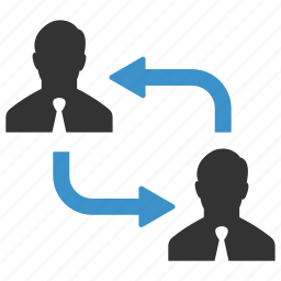 businessmen, change, exchange, human resources, move, organization, swap icon