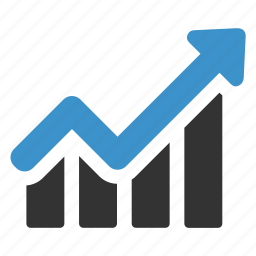 analytics, arrow, business, graph, growth, increase, statistic icon