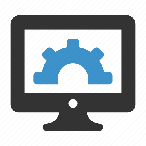 computer, gear, oprions, optimization, pc, productivity, settings icon