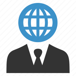 business, connection, global, globe, international, man, web icon