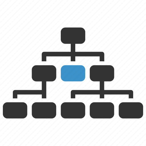 company, corporation, hierarchy, manage, management, organization, structure icon