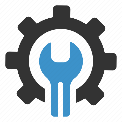 configuration, gear, productivity, repair, settings, support, wrench icon