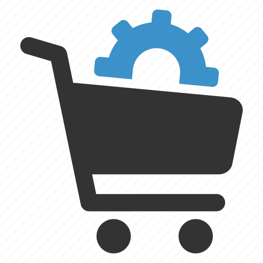 buy, cart, gear, options, pay, settings, shopping icon