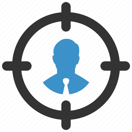avatar, businessman, center, person, profile, target, user icon