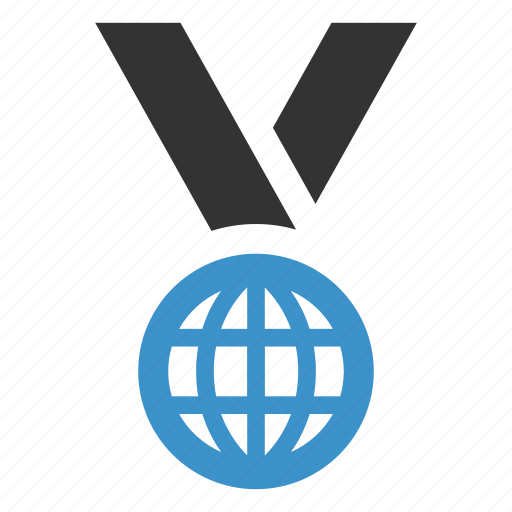 award, earth, global, globe, international, medal, reward icon