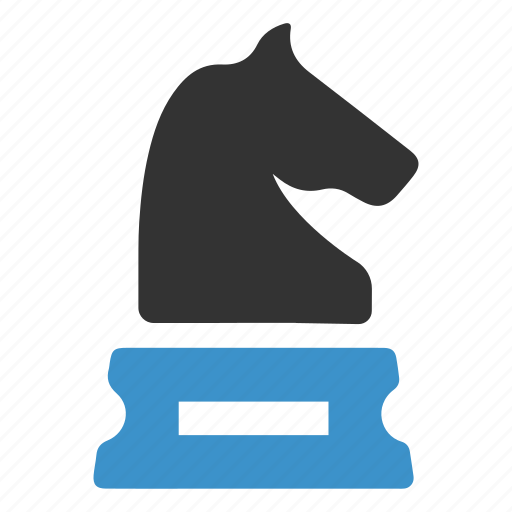 business, chess, figure, goal, horse, planning, strategy icon