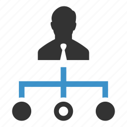 businessman, decision, hierarchy, manage, management, planning, strategy icon