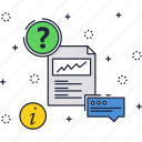 business, consulting, document, finance, message icon