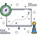 business, chart, graph, growth, tactics, timer icon