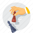 business, chess, chess game, competition, competitor, game, marketing icon