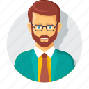 account, accountment, avatar, beard, business, businessman, man icon