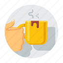 break, breakfast, cafe, coffee, coffee break, coffee-break, cup icon