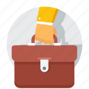 bag, business, hand, office, portfolio, purse icon