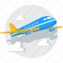 airplane, airport, business, flight, plane, ticket, transportation icon