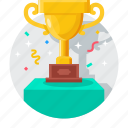 business, cup, marketing, reward, success, trophy, winner icon