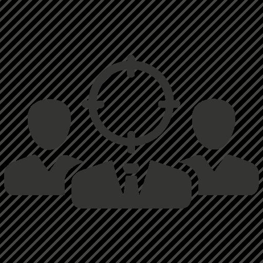 audience, customer, group, target, target market icon