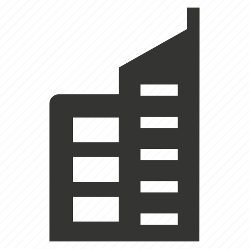 architecture, building, city, office building icon