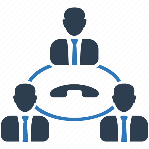 businessman, communication, conference call, meeting, teamwork icon