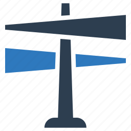 decision, direction sign, indication sign, road sign icon