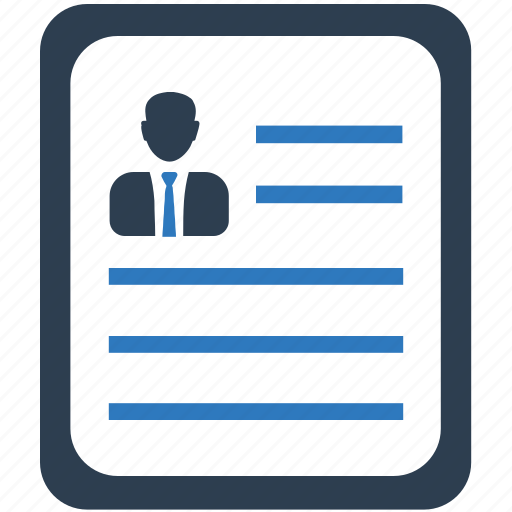 document, employee, portfolio, profile, resume icon