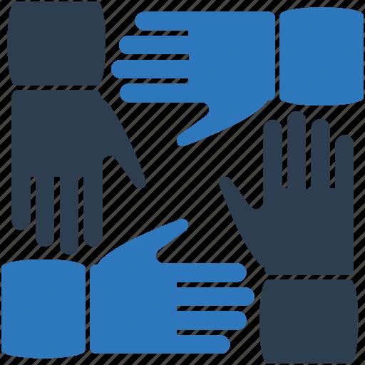 Cooperation, hands, team, teamwork icon - Download on Iconfinder