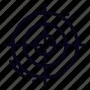 goals, bullseye, target icon