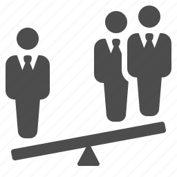 balance, business, businessman, man, men, see saw, seesaw icon