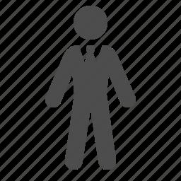 business, businessman, male, man, people, suit icon