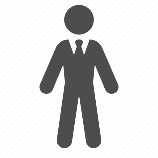 business, businessman, male, man, people, suit icon