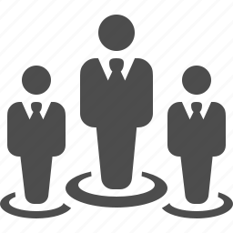 business, businessman, businessmen, leader, man, men, team icon