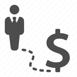 business, businessman, dollar, man, money, road, success icon