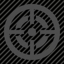 aim, crosshair, objective, scope, target icon