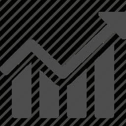 arrow, business, chart, graph, profit icon