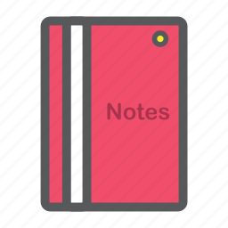 book, file, notepad, notes, writer icon