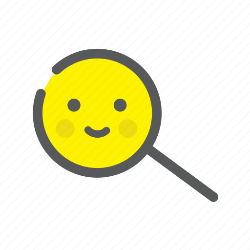 avater, emoji, face, find, happy, search, user icon