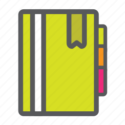 book, bookmark, checklist, file, notepad, notes, reminder icon